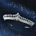 exquisite temperament Zircon Crown Bride High end Wedding tiara novia Wedding hair <b>Jewelry</b>