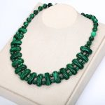 Malachite Necklace Natural Stone Crystal Women Pearl Chain Fashion Pendant Exquisite <b>Handmade</b> <b>Jewelry</b> Collar Punk Necklace Heart