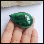 Sale 1Pcs Natural Stone Malachite Water Drop Shape Cabochon 49x33x11mm 33.7g <b>Fashion</b> <b>Jewelry</b> For Moving Accessories