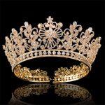 Luxury Bride tiara crown for women <b>wedding</b> accessories prom pageant headdress queen king diadem rhinestone flower hair <b>jewelry</b>