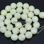 """Natural White Mother Of Pearl MOP Stones 12mm Faceted Round Loose Beads 15"""" Strand for <b>Jewelry</b> <b>Making</b> Crafts 5 Strands/Pack"""