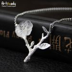 Artilady <b>handmade</b> crystal pendant necklace tree branch 925 sterling silver necklace for women <b>jewelry</b> party gift dropshipping
