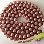 Pretty! 8mm Brown Ocean Shell Pearls Necklace <b>Jewelry</b> <b>Making</b> Natural Stone Rope Chain 36inch(Minimum Order1)