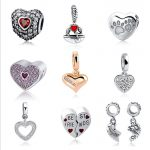 Fit Authentic pandora Charms silver 925 Original <b>Antique</b> Love Hearts Zircon Shape Bracelet Beads <b>Jewelry</b> For Mother's Day Gifts
