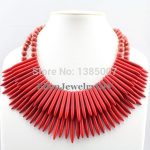 New Arrival Red beautiful <b>Jewelry</b>,beautiful <b>Necklace</b>,Coral <b>Necklace</b>,Holiday Party <b>Necklace</b>,Bridesmaid <b>Necklace</b>,Wedding Gift