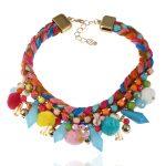 2017 <b>Handmade</b> Necklace Bohemia <b>handmade</b> colorful Choker necklace ethnic Fashion <b>jewelry</b> Multilayers Pompous beads statement neck