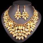 Bridal <b>Jewelry</b> Sets Crystal Statement Necklace Earrings Sets Wedding Party Costume Jewellery dropshipping <b>supplies</b> for <b>jewelry</b>