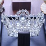 Bridal Tiaras and Crowns Sliver Hair Crown Full Crystal Rhinestone Large Queen Crown for Women <b>Wedding</b> Hair <b>Jewelry</b> Accessories