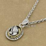 925 Sterling <b>Silver</b> Praying Virgin Mary Charm Pendant 9R018A <b>Necklace</b> 24 inch