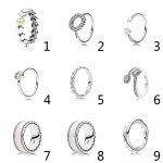 Authentic 925 Sterling Silver Enamel Swirling Symmetry With Crystal Ring For Women Wedding Party Gift Fine fit Lady <b>Jewelry</b>