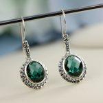 Earings Fashion Jewelry Sale Amethyst Figure 2018 New Products S925 Original Retro Thai <b>Earrings</b> Baroque Crystal Fashion Ladies