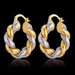 Circle Loop Hoop Earrings <b>Fashion</b> <b>Jewelry</b> Brincos New Wedding Accessories Vintage Gold/Silver Color Twist Round Earrings