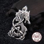 Real 925 Sterling <b>Silver</b> Viking Dragon pendant <b>necklace</b> with really leather and iron box as gift