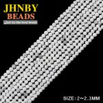 JHNBY AAA 2mm Faceted White kallaite ball Round Small Natural Stone 38cm Loose beads for <b>Jewelry</b> bracelet <b>making</b> DIY accessories