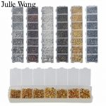 Julie Wang 1 BOX Jump Rings & Split Rings Lobster Buckle Set For Necklace Pendant Earrings Bracelet <b>Jewelry</b> Making <b>Accessories</b>