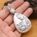 Handcrafted 999 <b>Silver</b> Buddha Statue Pendant Buddhist Pendant Tibetan Buddha Amulet Lotus OM Mantra Pendant <b>Jewelry</b> gift