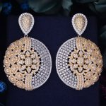 GODKI 63mm Flower Luxury Full Micro Cubic Zirconia Paved Naija <b>Wedding</b> Party Earring Fashion <b>Jewelry</b> for Women