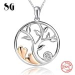 100% 925 sterling silver tree of life pendant chain necklace with Zirconia European diy fashion <b>jewelry</b> <b>making</b> for women gifts