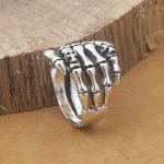 <b>Handmade</b> Ring 925 Silver Skull Ring Vintage Thai Silver Skull Finger Ring Pure Silver Unisex Ring Skull <b>Jewelry</b> Gift