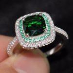 Cool choucong Cute Fashion <b>Jewelry</b> <b>Handmade</b> 100% 925 Sterling Silver 5A Clear Green CZ Women Wedding Engagement Band Ring Gift