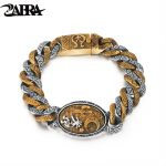 Real Pure 925 Sterling <b>Silver</b> <b>Bracelet</b> For Men Retro Indian Stamp Vintage Domineering <b>Bracelet</b> Men Cool Exaggerated Fine Jewelry