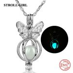 Aliexpress silver 925 lovely butterfly glowing chain pendant&necklace with cubic zircon diy European fashion <b>jewelry</b> <b>making</b> gift