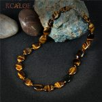 KCALOE Chokers 2017 Handmade Rope Vintage <b>Accessories</b> Brown Tiger Eye Oval Natural Stone Statement Necklace Women <b>Jewelry</b>
