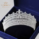 Top Quality Royal Vintage Oversize Crystal <b>Wedding</b> Crowns Full Zircon Brides Hair Accessories Sparkling Prom Queen Hair <b>Jewelry</b>