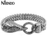 NIENDO Fashion Teenagers Bracelets Eagle <b>Jewelry</b> Fashion <b>Accessories</b> Pirate Bracelets Men's wrist cuffs men's bracelets AB448