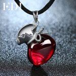 EDI Retro Garnet Gemstone 100% 925 Sterling <b>Silver</b> Pendant For Women Vintage Pendant <b>Jewelry</b> Female