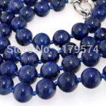 New fashion 8mm charming wholesale <b>jewelry</b> Natural Lapis Beads Necklace Natural Stone Fashion <b>Jewelry</b> <b>Making</b> Design 35″ W0328