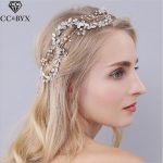 CC <b>Jewelry</b> Wedding Hairband Flower Crown Bridal Hair Accessories For Women Party Romantic Fashion Bride <b>Handmade</b> Hairwear 0939