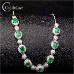 Classic <b>silver</b> emerald <b>bracelet</b> for office woman 8 pcs SI grade natural emerald <b>silver</b> <b>bracelet</b> 925 <b>silver</b> emerald <b>bracelet</b>