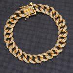 High End Man's Hollow Chain CZ 925 Sterling <b>Silver</b> <b>Bracelet</b>