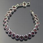 Silver 925 <b>Jewelry</b> 18+2 CM Red Zircon Charms Bracelets For Women Wedding <b>Accessories</b> Jewelery Free Gift Box