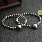 Real 925 Sterling Silver Round Beads Lucky Red Rope Bracelet <b>Handmade</b> Bangle Wax String Amulet <b>Jewelry</b>