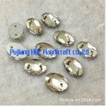 Wholesales !!! 10x14mm 108pcs Oval Shape Crystal Clear Sew on Buttons Flatback Sewing Fancy <b>Jewelry</b> <b>Making</b> Materials