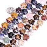 "Gem-inside 15mm Natural Stone Beads Rose Plumeria Flower Beads For <b>Jewelry</b> <b>Making</b> Beads Earrings 15"" DIY Beads Jewellery"