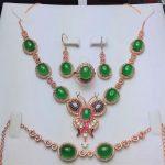 Koraba Fine Jewelry 925 Sterling <b>Silver</b> Inlaid Natural Green Chalcedony Butterfly Pendant Necklace Bracelet <b>Earrings</b> Gift Set