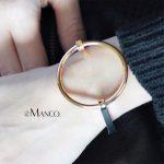 eManco Minimalist Punk Round Bangle for women Gold-color Exaggerate Geometric Metal Skeleton Bracelets & Bangles <b>Jewelry</b>