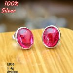 100% 925 Sterling-Silver-<b>Jewelry</b> Oval Blank Stud Earrings With Fit 8*10mm <b>Antique</b> Silver Base Tray For Diy Earrings
