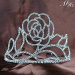 Floral Tiaras w/ Hair Combs Flower Crowns Clear Crystal Rhinestones Wedding Brides Pageant Engagement Party Fashion <b>Jewelry</b>