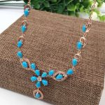 Natural green turquoise Necklace natural gemstone Pendant Necklace S925 <b>silver</b> trendy Luxury Flowers women party fine <b>Jewelry</b>