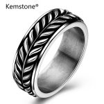 Kemstone Stainless Steel Punk Popular Retro Ring Large <b>Antique</b> Men's Rings for Seal Men Rock Mens <b>Jewelry</b>