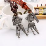 HouBian High Quality Fashion Long Necklace Real Leather Sweater Chain Robot For Women Men Pendant Necklace <b>Jewelry</b>