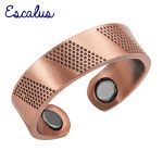 Escalus Ladies Gift <b>Antique</b> Copper Trendy Fashion Magnetic Ring Resizable Female Magnets Women <b>Jewelry</b> Charm Finger Wear