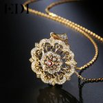EDI Woman Tears Of The Sun Flower Natural Garnet 925 <b>Sterling</b> <b>Silver</b> Gemstone Chain Pendant Necklace For Women Fine <b>Jewelry</b>