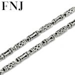 4MM Long Chain Necklace 925 Sterling Silver Men 100% S925 Solid Silver Link Chains Necklaces for Women <b>Jewelry</b> <b>Making</b>