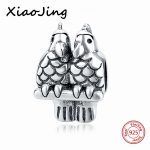 Silver 925 Original Birds Charms Beads Pendant <b>Antique</b> Fit Authentic pandora Bracelet beads <b>Jewelry</b> making for womenGifts