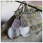 <b>Sterling</b> <b>silver</b> <b>jewelry</b> LAOYINJIANG bangkok thai <b>silver</b> , handmade opal earrings,birthday gifts christmas gift